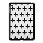 ROYAL1 BLACK MARBLE & WHITE LINEN (R) Apple iPad Mini Case (Black) Front