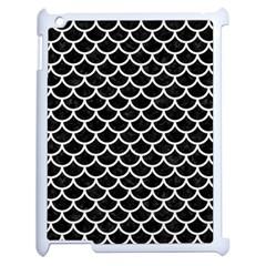 Scales1 Black Marble & White Linen (r) Apple Ipad 2 Case (white)