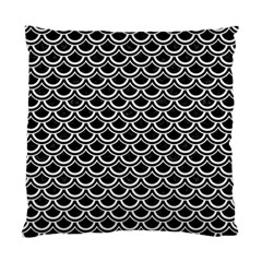 Scales2 Black Marble & White Linen (r) Standard Cushion Case (one Side) by trendistuff