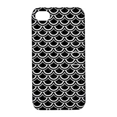 Scales2 Black Marble & White Linen (r) Apple Iphone 4/4s Hardshell Case With Stand by trendistuff