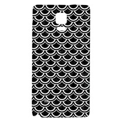 Scales2 Black Marble & White Linen (r) Galaxy Note 4 Back Case by trendistuff