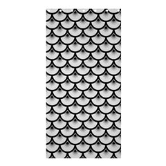 Scales3 Black Marble & White Linen Shower Curtain 36  X 72  (stall)  by trendistuff