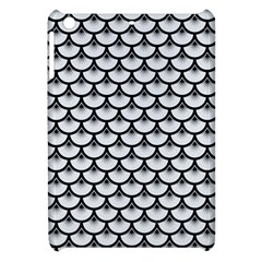 Scales3 Black Marble & White Linen Apple Ipad Mini Hardshell Case by trendistuff