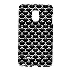 Scales3 Black Marble & White Linen (r) Galaxy Note Edge by trendistuff