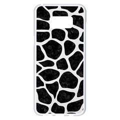Skin1 Black Marble & White Linen Samsung Galaxy S8 Plus White Seamless Case