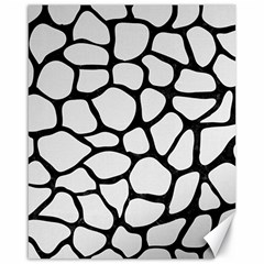 Skin1 Black Marble & White Linen (r) Canvas 16  X 20   by trendistuff