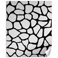 Skin1 Black Marble & White Linen (r) Canvas 11  X 14   by trendistuff