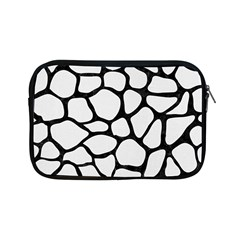 Skin1 Black Marble & White Linen (r) Apple Ipad Mini Zipper Cases by trendistuff