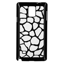 Skin1 Black Marble & White Linen (r) Samsung Galaxy Note 4 Case (black) by trendistuff