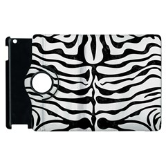 Skin2 Black Marble & White Linen Apple Ipad 3/4 Flip 360 Case by trendistuff