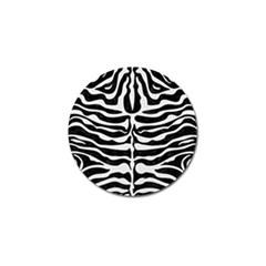 Skin2 Black Marble & White Linen (r) Golf Ball Marker (10 Pack) by trendistuff