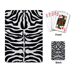 Skin2 Black Marble & White Linen (r) Playing Card by trendistuff