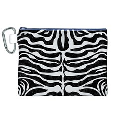 Skin2 Black Marble & White Linen (r) Canvas Cosmetic Bag (xl) by trendistuff