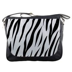 Skin3 Black Marble & White Linen Messenger Bags by trendistuff