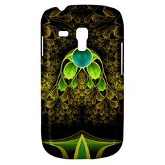 Beautiful Gold And Green Fractal Peacock Feathers Galaxy S3 Mini by jayaprime