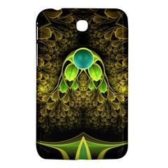 Beautiful Gold And Green Fractal Peacock Feathers Samsung Galaxy Tab 3 (7 ) P3200 Hardshell Case  by jayaprime