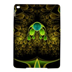 Beautiful Gold And Green Fractal Peacock Feathers Ipad Air 2 Hardshell Cases by jayaprime
