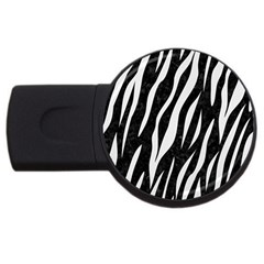 Skin3 Black Marble & White Linen (r) Usb Flash Drive Round (4 Gb) by trendistuff