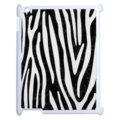 Skin4 Black Marble & White Linen Apple Ipad 2 Case (white) by trendistuff
