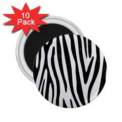 Skin4 Black Marble & White Linen (r) 2 25  Magnets (10 Pack)  by trendistuff