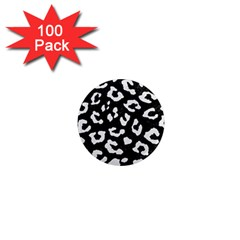 Skin5 Black Marble & White Linen 1  Mini Magnets (100 Pack)  by trendistuff