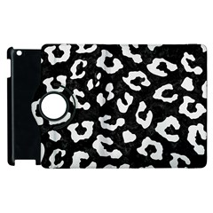 Skin5 Black Marble & White Linen Apple Ipad 3/4 Flip 360 Case by trendistuff