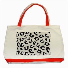 Skin5 Black Marble & White Linen (r) Classic Tote Bag (red) by trendistuff