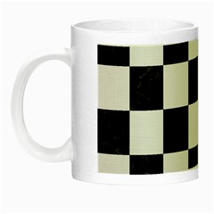 Square1 Black Marble & White Linen Night Luminous Mugs by trendistuff