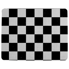 Square1 Black Marble & White Linen Jigsaw Puzzle Photo Stand (rectangular) by trendistuff