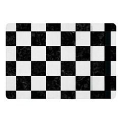 Square1 Black Marble & White Linen Apple Ipad Pro 10 5   Flip Case by trendistuff