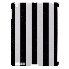 Stripes1 Black Marble & White Linen Apple Ipad 3/4 Hardshell Case (compatible With Smart Cover) by trendistuff