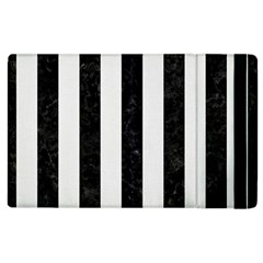 Stripes1 Black Marble & White Linen Apple Ipad 2 Flip Case by trendistuff