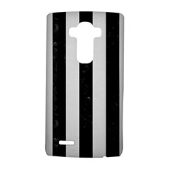 Stripes1 Black Marble & White Linen Lg G4 Hardshell Case by trendistuff