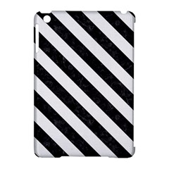 Stripes3 Black Marble & White Linen Apple Ipad Mini Hardshell Case (compatible With Smart Cover) by trendistuff