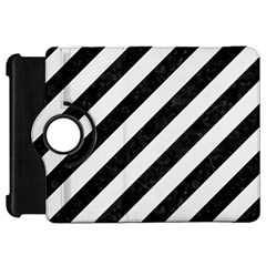 Stripes3 Black Marble & White Linen (r) Kindle Fire Hd 7