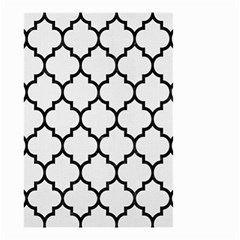 Tile1 Black Marble & White Linen Small Garden Flag (two Sides) by trendistuff