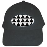 TRIANGLE2 BLACK MARBLE & WHITE LINEN Black Cap