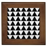 TRIANGLE2 BLACK MARBLE & WHITE LINEN Framed Tiles