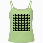 TRIANGLE2 BLACK MARBLE & WHITE LINEN Green Spaghetti Tank