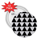 TRIANGLE2 BLACK MARBLE & WHITE LINEN 2.25  Buttons (10 pack)