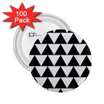 TRIANGLE2 BLACK MARBLE & WHITE LINEN 2.25  Buttons (100 pack)
