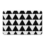TRIANGLE2 BLACK MARBLE & WHITE LINEN Magnet (Rectangular)