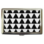 TRIANGLE2 BLACK MARBLE & WHITE LINEN Cigarette Money Cases
