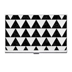 TRIANGLE2 BLACK MARBLE & WHITE LINEN Business Card Holders