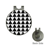TRIANGLE2 BLACK MARBLE & WHITE LINEN Hat Clips with Golf Markers