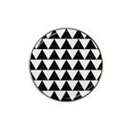 TRIANGLE2 BLACK MARBLE & WHITE LINEN Hat Clip Ball Marker (4 pack)
