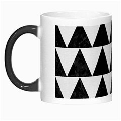Triangle2 Black Marble & White Linen Morph Mugs by trendistuff