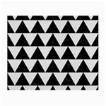 TRIANGLE2 BLACK MARBLE & WHITE LINEN Small Glasses Cloth (2-Side)