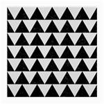 TRIANGLE2 BLACK MARBLE & WHITE LINEN Medium Glasses Cloth