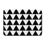 TRIANGLE2 BLACK MARBLE & WHITE LINEN Small Doormat